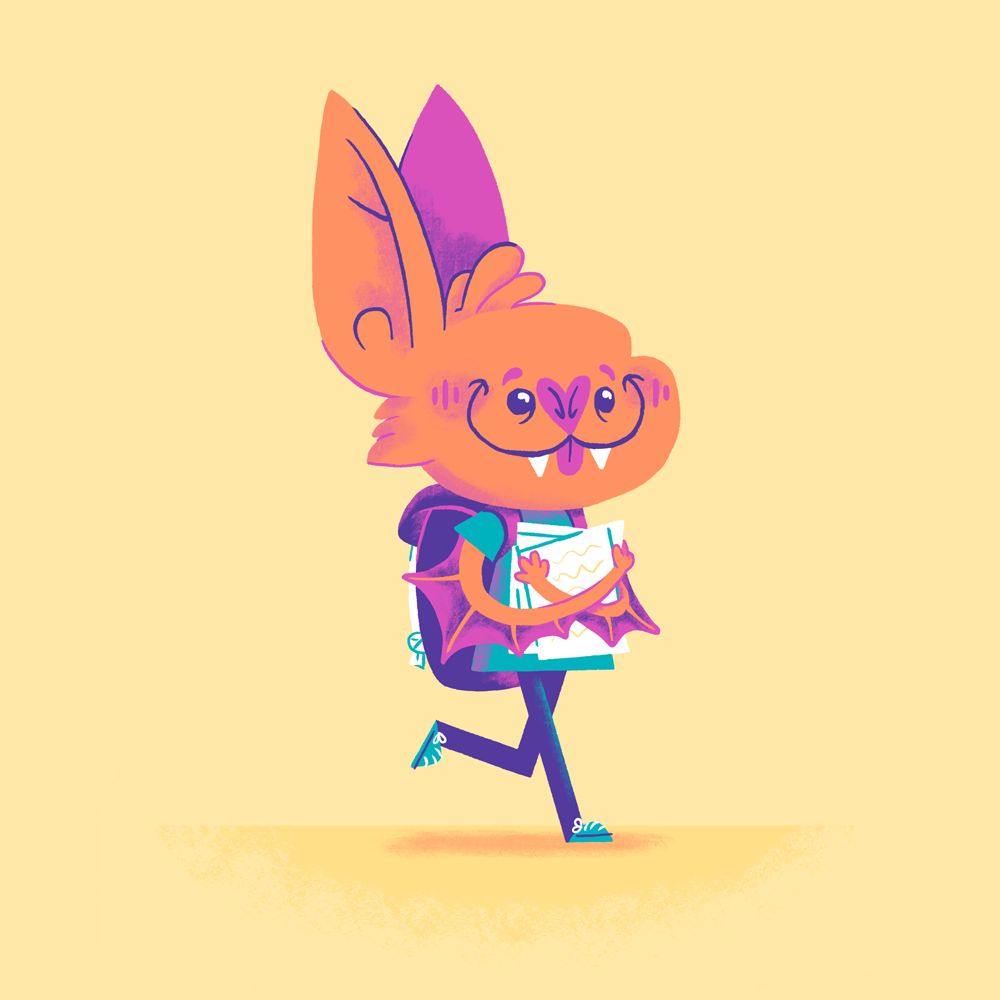 Bat Kid Illustration