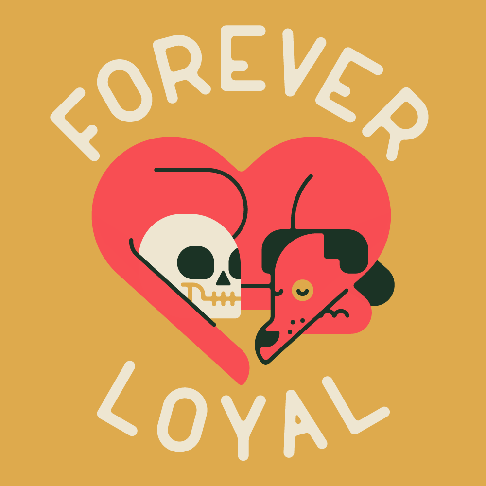 Forever Loyal Dog Illustration